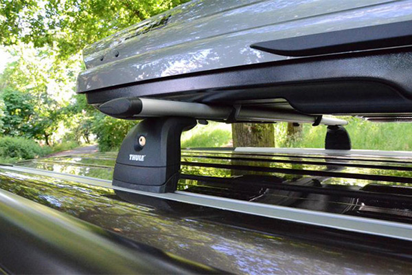 VW California with Roof Box for Extra Storage.